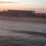 view from the pier next door