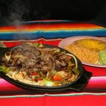 Beef Fajitas... more than enough for two!