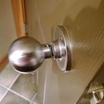 Bathroom doorknob broken
