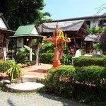 Budda shrine & pool area opposite room 208