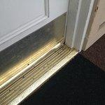 Wet carpet outside door