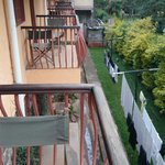 View from balcony. Who does the washing belong to?