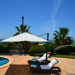 Villa 488 - swiming pool area and view over the sea