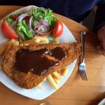 A very reasonably priced schnitzel which was yummy