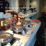 buffet breakfast serve at 17th executive floor lounge
