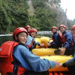 Met some lovely people on our raft - girls from Matamata, a travelling couple, and our guide Jen