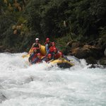 Coming down one of the rapids - Yeeeha!