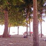 Frente al hotel, en la playa de Copacabana