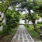 Private laneway leading into the villa