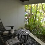 our secluded private patio
