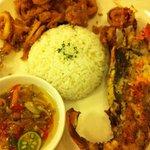 lobster and calamari with rice
