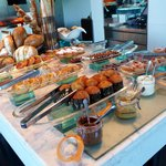 Pastry breakfast spread. Amazing!