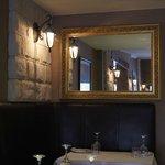 corner of restaurant