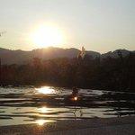 Magnifique Sunset au bord de la piscine