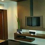 Fernseher und Ipod Docking Station im Wohnbereich