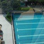 Ausblick von der Suite auf den Pool