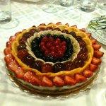 La crostata di frutta fatta appositamente dallo chef per il mio compleanno!