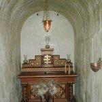Hidden chapel off lounge