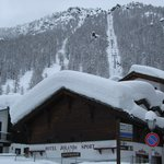 Hotel and chairlift