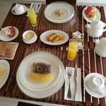 Morning Breakfast delivered to the room