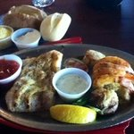 Broiled Seafood Platter $20