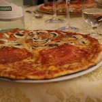 "Shared ""Funghi"" and ""Salame"" Pizza"
