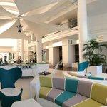 Chic hotel lobby