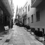 The street in which the hotel is located, beautiful part of the city... The heart of Plaka