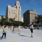 ice skating under 72F California temperature
