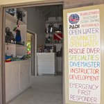 Cooper Island dive shop open 9-4 daily