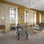 Premier Suite living room in Neo-Classical building