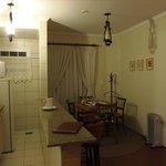 Sala de jantar e cozinha do flat