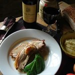 Belly Of Pork With Grain Mustard Cider Sauce