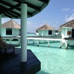 View from Water Villa onto other Water Villas
