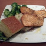 Grilled Salmon with House Potatoes and Broccoli