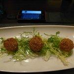 Haggis Balls with Chilli Sauce (where?) - Starter