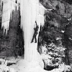 Lone rock ice.