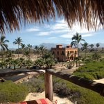 View of the Villa from the top of the ocean front Palapa