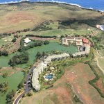 Aerial view of the resort that I took from a helicopter