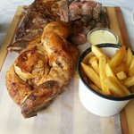 A mixed grill