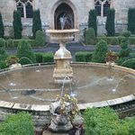 Water feature at the front of the Castle