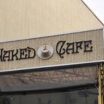 Naked Cafe Sign