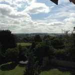 English countryside as seen from top floor