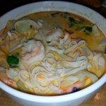 Red Curry Shrimp noodle bowl.