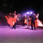 Spectacle de danse sur la terrasse