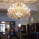 Beautiful Chandelier in main lobby