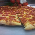 Fresh stone baked pizza
