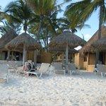 Beach and palapas