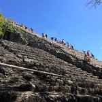 The grand pyramid at Coba is enormous!  And you can still climb it!  Thanks to Lou and Moe for g