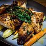 Roasted Chicken with Heirloom Carrots